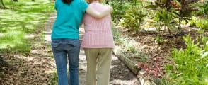 Helping Grandmother Walk