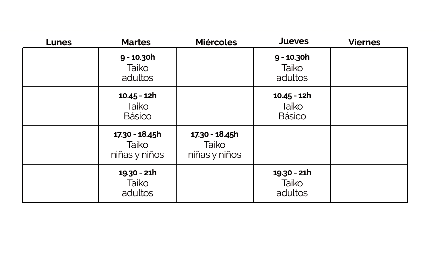 Taiko clases