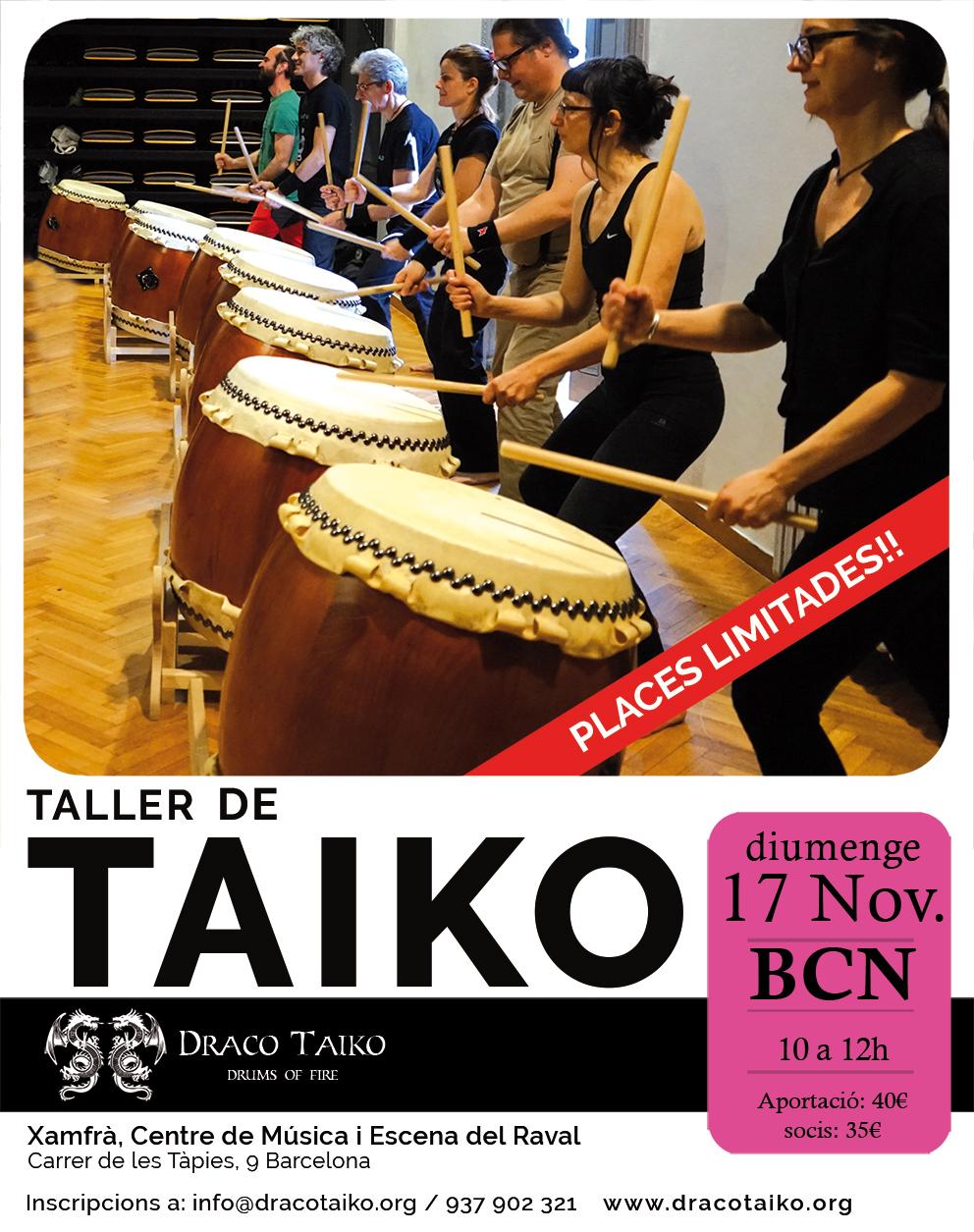 Taller de Taiko al novembre